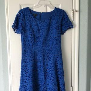 Talbots blue lace dress